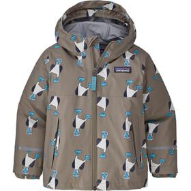 Patagonia Torrentshell 3L Jacket Kids blue prints/furry taupe
